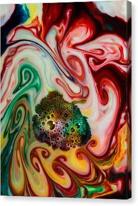 Mystic Milk Number 12 Canvas Print by Sage Moonshadow Voortague