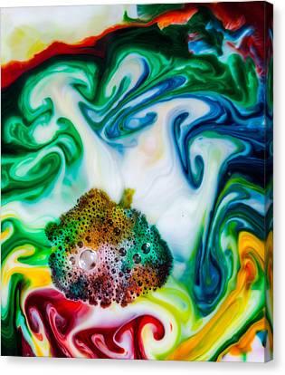 Mystic Milk Number 4 Canvas Print by Sage Moonshadow Voortague