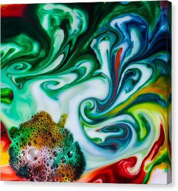 Mystic Milk Number 5 Canvas Print by Sage Moonshadow Voortague