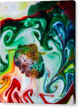 Mystic Milk Number 6 Canvas Print by Sage Moonshadow Voortague