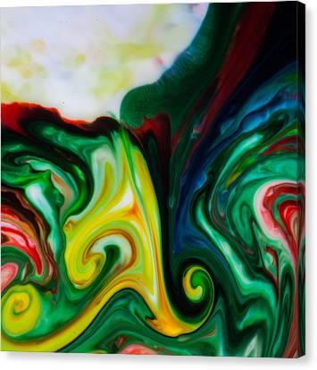 Mystic Milk Number 8 Canvas Print by Sage Moonshadow Voortague