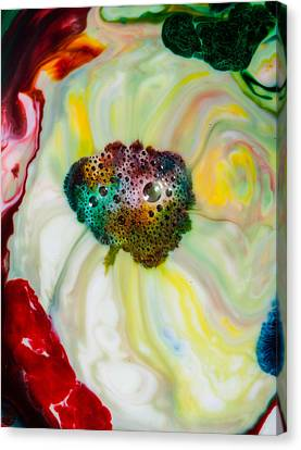 Mystic Milk Number 9 Canvas Print by Sage Moonshadow Voortague