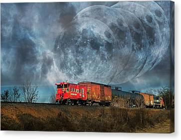 Mystic Tracking Canvas Print by Betsy Knapp