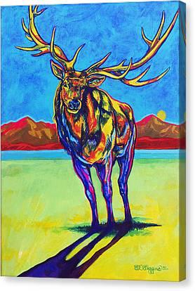 Mythical Elk Canvas Print by Derrick Higgins