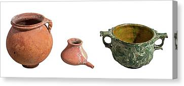 Nabatean Clay Vessels Canvas Print by Photostock-israel