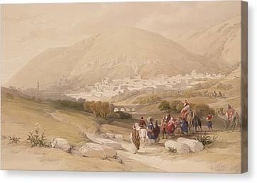 Nablous   Ancient Shechem Canvas Print by David Roberts