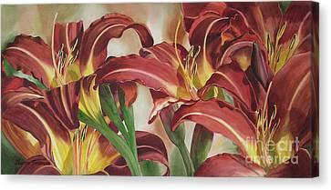 Nadine's Lilies Canvas Print by Sharon Freeman