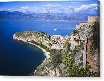 Nafplio Peninsula Canvas Print by David Waldo