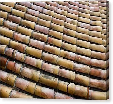 Nafplio Roof Tiles Canvas Print by David Waldo