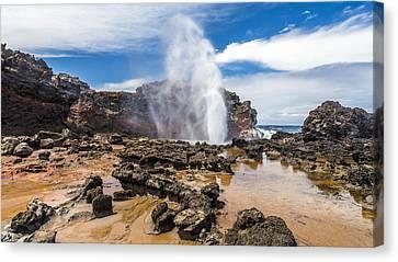 Nakalele Blow Hole Maui Canvas Print by Pierre Leclerc Photography