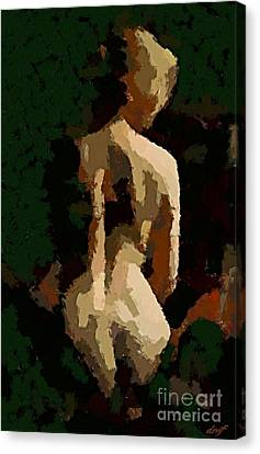 Naked Susan Canvas Print by Dragica  Micki Fortuna