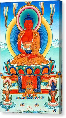 Namo Amitabha Buddha 35 Canvas Print by Lanjee Chee