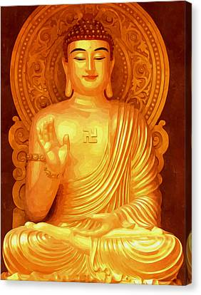 Namo Amitabha Buddha 36 Canvas Print by Lanjee Chee