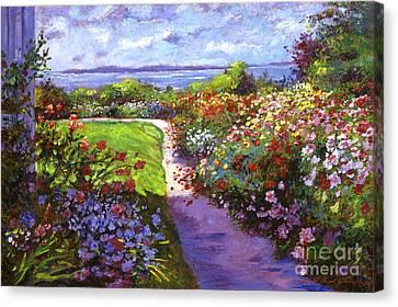 Nantucket Island Garden Canvas Print by David Lloyd Glover