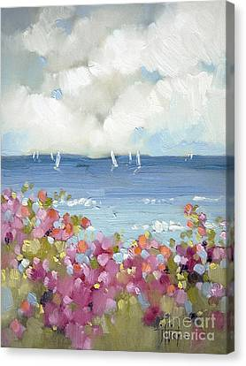 Nantucket Sea Roses Canvas Print by Joyce Hicks