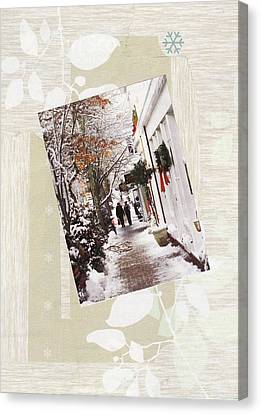 Nantucket Street Canvas Print by Matthew Hoffman