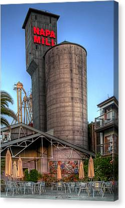 Napa Mill II Canvas Print by Bill Gallagher