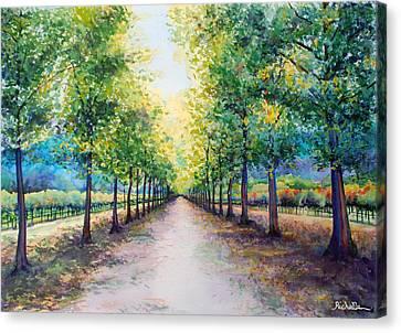 Napa Road Canvas Print by Richelle Siska