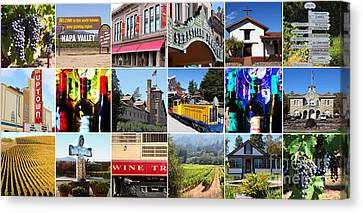 Napa Sonoma County Wine Country 20140906 Canvas Print by Wingsdomain Art and Photography