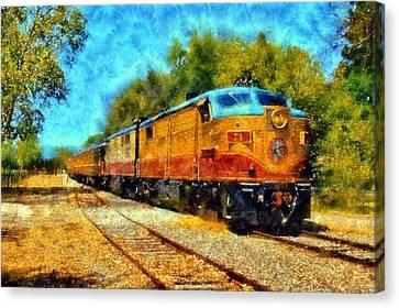 Napa Valley Wine Train Canvas Print by Kaylee Mason
