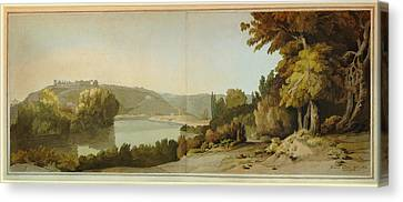 Veduta Del Tevere   Canvas Print by Celestial Images