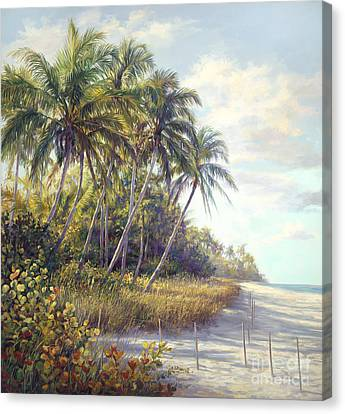 Naples Beach Access Canvas Print by Laurie Hein