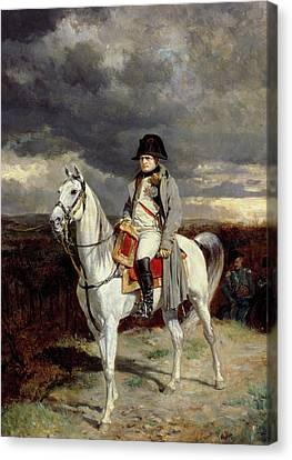Napoleon Bonaparte Canvas Print by Jean-Louis Ernest Meissonier
