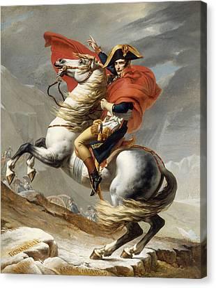Napoleon Bonaparte On Horseback Canvas Print by War Is Hell Store