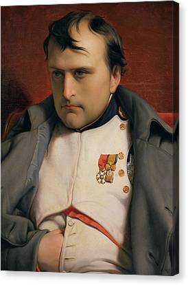 Napoleon In Fontainebleau Canvas Print by Hippolyte Delaroche