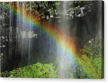 Narada Falls Rainbow, Narada Falls Canvas Print by Michel Hersen