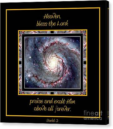 Nasa Whirlpool Galaxy Heaven Bless The Lord Praise And Exalt Him Above All Forever Canvas Print by Rose Santuci-Sofranko