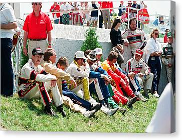 Nascar Greats- Earnhardt Allison Petty Martin Canvas Print by Retro Images Archive