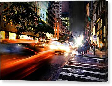 Nascar In Nyc Canvas Print by Diana Angstadt