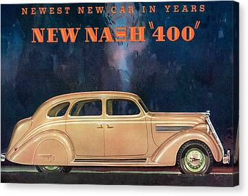 Nash 400 - Vintage Car Poster Canvas Print by World Art Prints And Designs