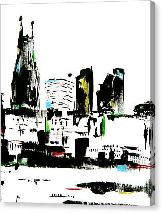 Nashville Abstract Canvas Print by Wendy Barritt