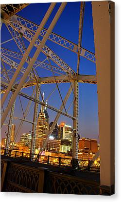 Nashville Bridge Canvas Print by Zachary Cox