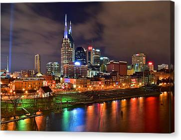 Nashville Is A Colorful Town Canvas Print by Frozen in Time Fine Art Photography