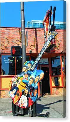 Nashville Legends Guitar Canvas Print by Dan Sproul