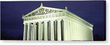Nashville Parthenon At Night Canvas Print by Panoramic Images