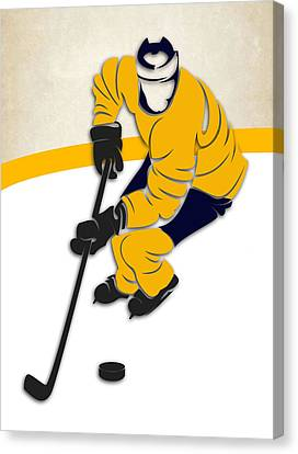 Nashville Predators Rink Canvas Print by Joe Hamilton