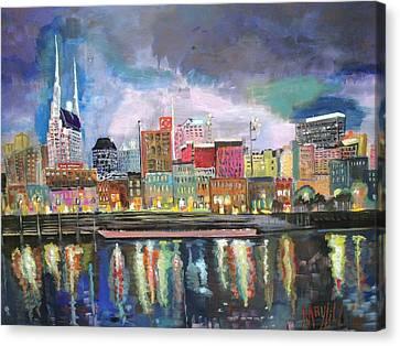 Nashville Reflections  Canvas Print by MayLill Tomlin