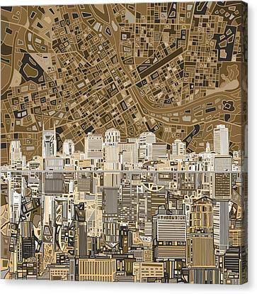 Nashville Skyline Abstract 2 Canvas Print by Bekim Art