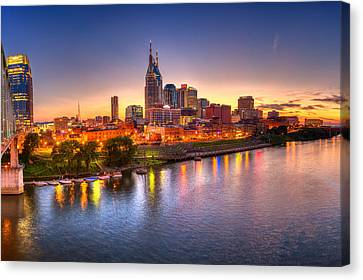 Nashville Skyline Canvas Print by Brett Engle