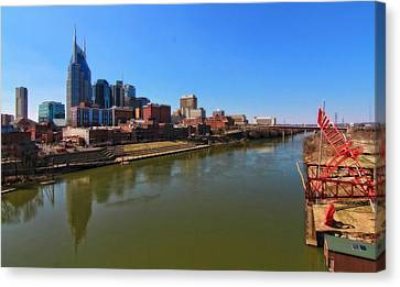 Nashville Skyline  Canvas Print by Dan Sproul