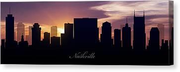 Nashville Sunset Canvas Print by Aged Pixel