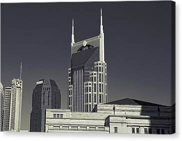 Nashville Tennessee Batman Building Canvas Print by Dan Sproul