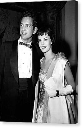Natalie Wood In Formal Wear Canvas Print by Retro Images Archive