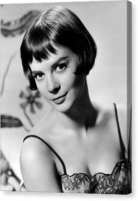 Natalie Wood With Short Hair Canvas Print by Retro Images Archive