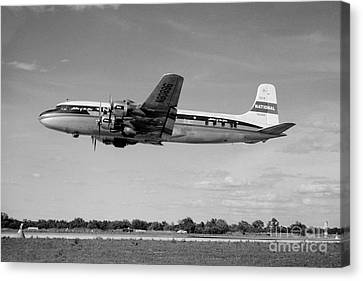 National Airlines Nal Douglas Dc-6 Canvas Print by Wernher Krutein