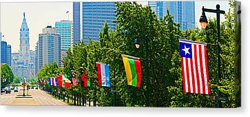 National Flags Of The Countries Canvas Print by Panoramic Images